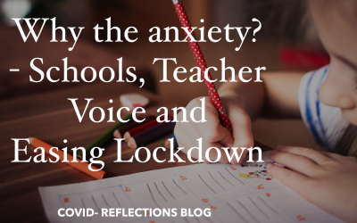 Re-opening schools amidst a Lockdown – Teacher Voice, Anxiety and Social distancing